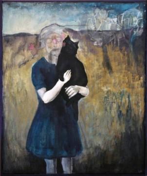 flicka-med-kattdjur
